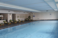 The indoor swimming pool Stock Images