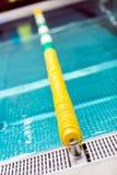 Indoor swimming pool lane separator Stock Photos