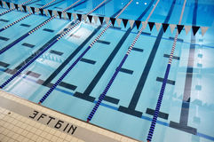Indoor Swimming Pool Lanes Royalty Free Stock Photos