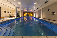 Indoor swimming pool and spa Stock Photography