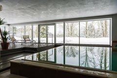 Indoor swimming pool in winter Stock Image