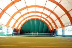 Indoor tennis court Royalty Free Stock Image