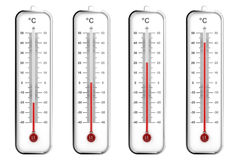 Indoor thermometers in Celsius scale Stock Photos