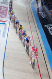 Indoor track bicycle race Stock Photography