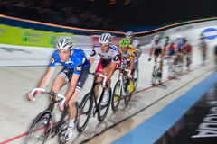 Indoor track bike race at  Sixday-Nights Stock Photos