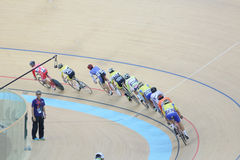 Indoor track cycling Stock Photography