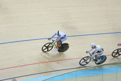 Indoor track cycling Stock Photo