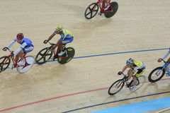 Indoor track cycling Royalty Free Stock Photography