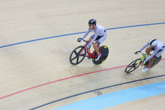 Indoor track cycling Stock Image