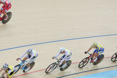 Indoor track cycling Royalty Free Stock Images