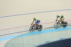 Indoor track cycling Royalty Free Stock Photo