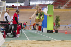 Indoor Track & Field Vienna 2015 Royalty Free Stock Image