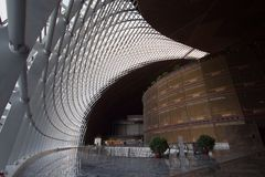 An indoor view of China National Centre for the performing Arts Stock Image