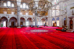 Indoor view of a famous mosque Royalty Free Stock Image