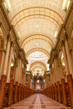 Indoor view of might cathedral Royalty Free Stock Photo