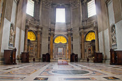 Indoor view of Saint Peter Basilica Stock Photo