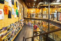 Indoor view of an Urban Outfitters shop royalty free stock photos