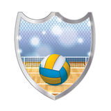 Indoor Volleyball Emblem Illustration Stock Photography