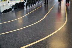 Indoor Walking Tracks in Ice Rink Royalty Free Stock Images