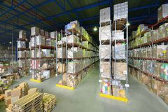 Indoor warehouse Royalty Free Stock Photos