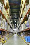 Indoor warehouse Royalty Free Stock Image