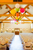 Indoor Wedding Ceremony Venue Location Royalty Free Stock Images