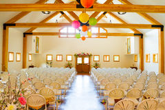 Indoor Wedding Ceremony Venue Location stock photos