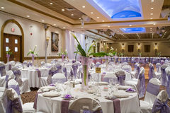 Indoor wedding reception hall Stock Photography