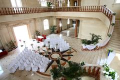 Indoor wedding Scene Royalty Free Stock Photos