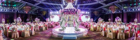 Indoor wedding Scene Stock Photo