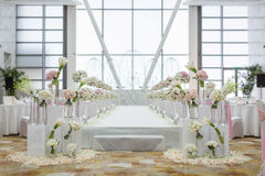 Indoor wedding Scene Royalty Free Stock Image