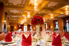 Indoor wedding scene royalty free stock image