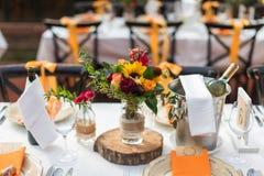 Indoor wedding scene Stock Photos