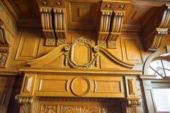 The indoor wooden sculpture Stock Images