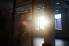 Indoor workout Stock Images