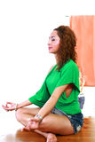 Indoor yoga Royalty Free Stock Photography