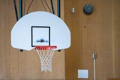 Indoors basketball hoop royalty free stock photography