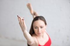 Indoors joga praktyka Zdjęcia Stock