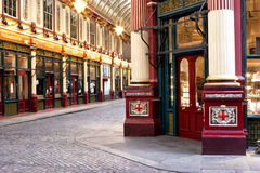 Indoors of an old London market Royalty Free Stock Photo