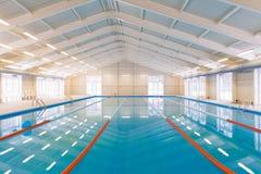 Indoors pływacki basen Obraz Royalty Free