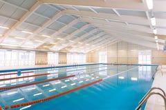 Indoors pływacki basen Fotografia Royalty Free