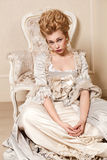 Indoors shot in the Marie Antoinette style Royalty Free Stock Images