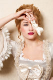 Indoors shot in the Marie Antoinette style Stock Photography