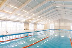 Indoors swimming pool Stock Photography