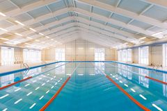 Indoors swimming pool Royalty Free Stock Image