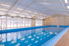 Indoors swimming pool Royalty Free Stock Photo