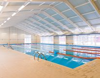 Indoors swimming pool Stock Photo