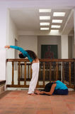 Indoors yoga Stock Photography