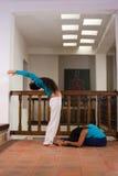 Indoors yoga Stock Photography