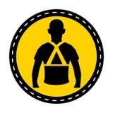 Indossi l'isolato posteriore del segno di simbolo di sostegno su fondo bianco, illustrazione di vettore illustrazione vettoriale